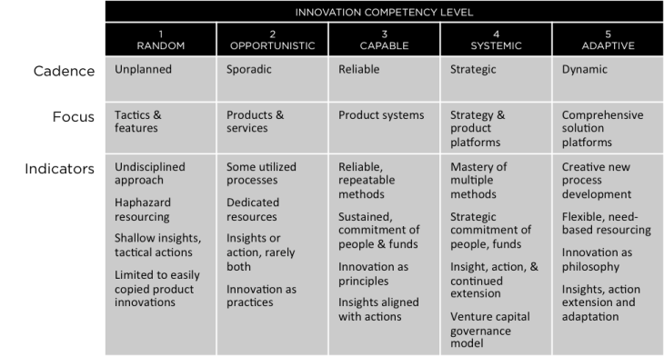 innovation competency summary